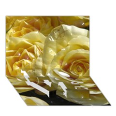 Yellow Roses Love Bottom 3d Greeting Card (7x5)