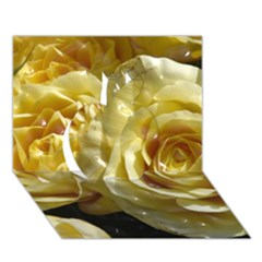 Yellow Roses Apple 3D Greeting Card (7x5)