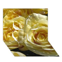 Yellow Roses Clover 3d Greeting Card (7x5)