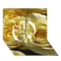 Yellow Roses Peace Sign 3D Greeting Card (7x5)