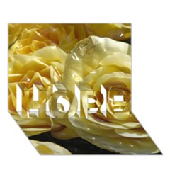 Yellow Roses HOPE 3D Greeting Card (7x5)