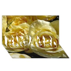 Yellow Roses ENGAGED 3D Greeting Card (8x4)