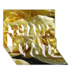 Yellow Roses Thank You 3d Greeting Card (7x5)
