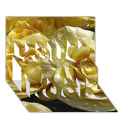 Yellow Roses You Rock 3d Greeting Card (7x5)