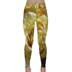 Yellow Roses Yoga Leggings