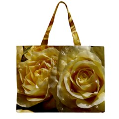 Yellow Roses Zipper Tiny Tote Bags