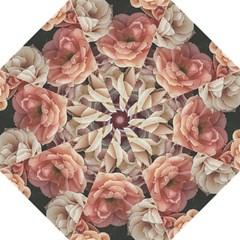 Great Garden Roses, Vintage Look  Folding Umbrellas