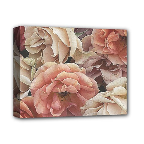 Great Garden Roses, Vintage Look  Deluxe Canvas 14  X 11
