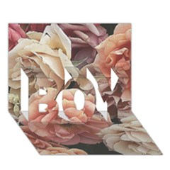Great Garden Roses, Vintage Look  Boy 3d Greeting Card (7x5)