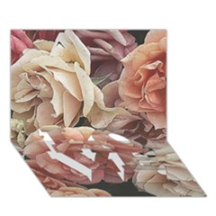Great Garden Roses, Vintage Look  Love Bottom 3d Greeting Card (7x5)