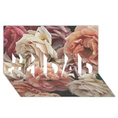 Great Garden Roses, Vintage Look  #1 DAD 3D Greeting Card (8x4)