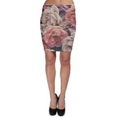 Great Garden Roses, Vintage Look  Bodycon Skirts