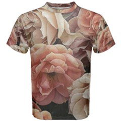 Great Garden Roses, Vintage Look  Men s Cotton Tees