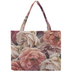 Great Garden Roses, Vintage Look  Tiny Tote Bags