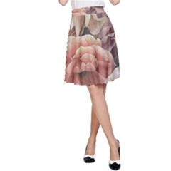 Great Garden Roses, Vintage Look  A-Line Skirts
