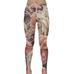 Great Garden Roses, Vintage Look  Yoga Leggings