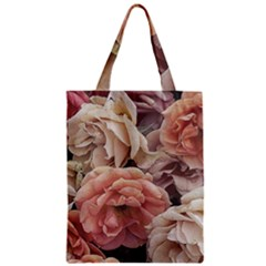 Great Garden Roses, Vintage Look  Zipper Classic Tote Bags