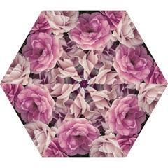 Great Garden Roses Pink Mini Folding Umbrellas