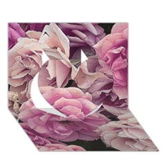 Great Garden Roses Pink Heart 3D Greeting Card (7x5)