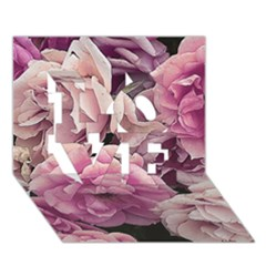 Great Garden Roses Pink LOVE 3D Greeting Card (7x5)