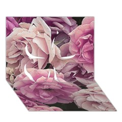 Great Garden Roses Pink Clover 3d Greeting Card (7x5)