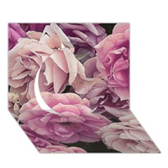 Great Garden Roses Pink Circle 3d Greeting Card (7x5)