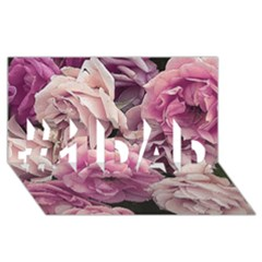 Great Garden Roses Pink #1 DAD 3D Greeting Card (8x4)