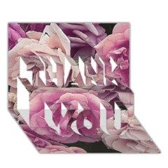 Great Garden Roses Pink Thank You 3d Greeting Card (7x5)