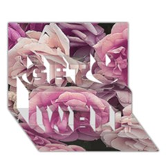 Great Garden Roses Pink Get Well 3d Greeting Card (7x5)