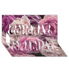 Great Garden Roses Pink Congrats Graduate 3D Greeting Card (8x4)