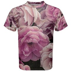 Great Garden Roses Pink Men s Cotton Tees