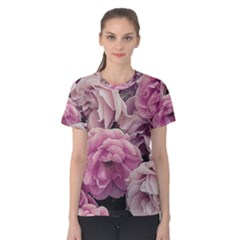 Great Garden Roses Pink Women s Cotton Tees