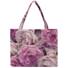 Great Garden Roses Pink Tiny Tote Bags
