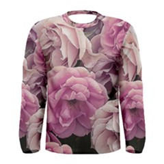 Great Garden Roses Pink Men s Long Sleeve T-shirts