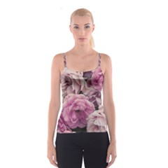Great Garden Roses Pink Spaghetti Strap Tops