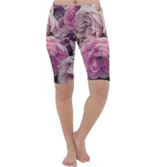 Great Garden Roses Pink Cropped Leggings