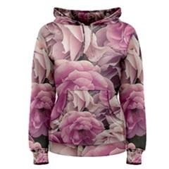 Great Garden Roses Pink Women s Pullover Hoodies