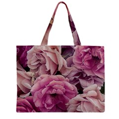 Great Garden Roses Pink Zipper Tiny Tote Bags