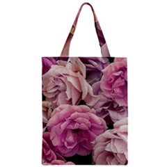 Great Garden Roses Pink Zipper Classic Tote Bags