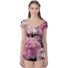 Great Garden Roses Pink Short Sleeve Leotard