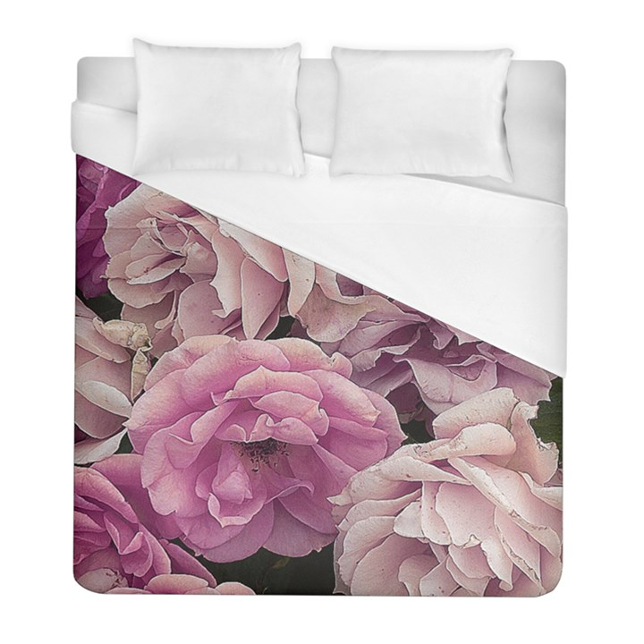 Great Garden Roses Pink Duvet Cover Single Side (Twin Size)