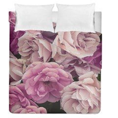 Great Garden Roses Pink Duvet Cover (full/queen Size)