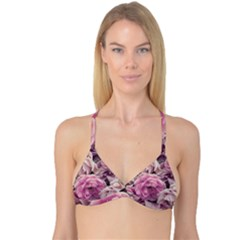 Great Garden Roses Pink Reversible Tri Bikini Tops