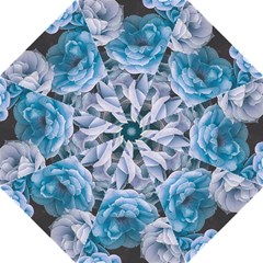 Great Garden Roses Blue Folding Umbrellas
