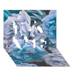 Great Garden Roses Blue LOVE 3D Greeting Card (7x5)