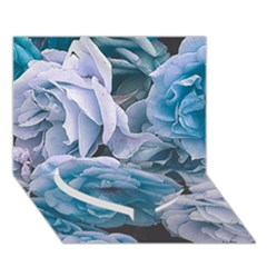 Great Garden Roses Blue Heart Bottom 3d Greeting Card (7x5)