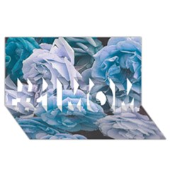 Great Garden Roses Blue #1 MOM 3D Greeting Cards (8x4)