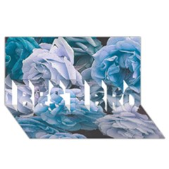 Great Garden Roses Blue BEST BRO 3D Greeting Card (8x4)