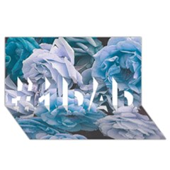 Great Garden Roses Blue #1 DAD 3D Greeting Card (8x4)