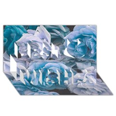 Great Garden Roses Blue Best Wish 3d Greeting Card (8x4)